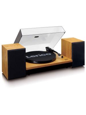 Lenco LS-300 Bluetooth Wood Πικάπ με Ενισχυτή και Ηχεία (set)