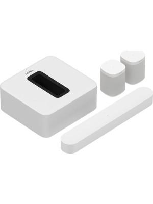 SONOS 5.1 Surround Set with Sonos Beam, Sub, and One SL White