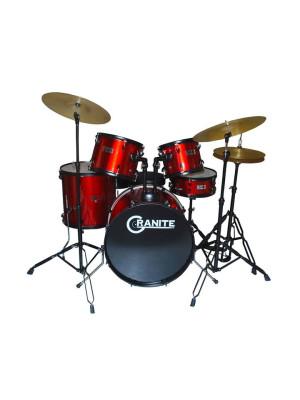 Granite Studio Beat Red Drumset Ντραμς με Πιατινία