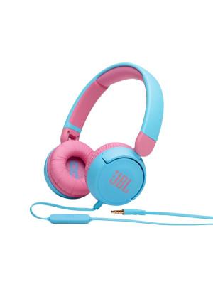 JBL JR310 Blue On-Ear Headphones for Kids, Universal, Safe Listening