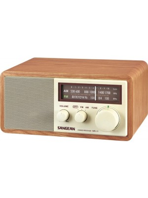 Sangean WR-11 Walnut Wooden Cabinet AM/FM Radio Receiver