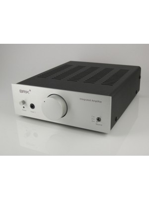 Brik Audio Integrated Amplifier with remote Silver