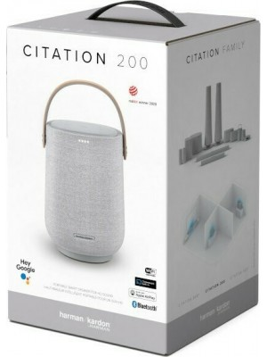 Harman Kardon Citation 200, Voice-activated Portable speaker, Google Assistant Grey