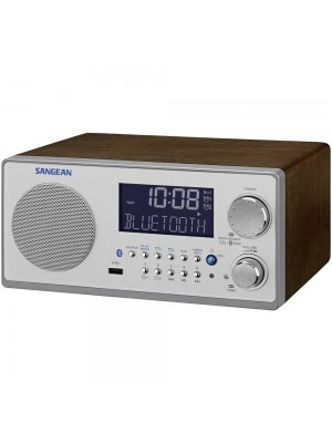 Sangean WR-22 Wooden Cabinet FM/AM Receiver With USB/Bluetooth