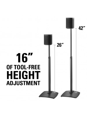 Adjustable Height Wireless Speaker Stand designed for Sonos One, Sonos One SL, Play:1, and Play:3 - (τεμάχιο)